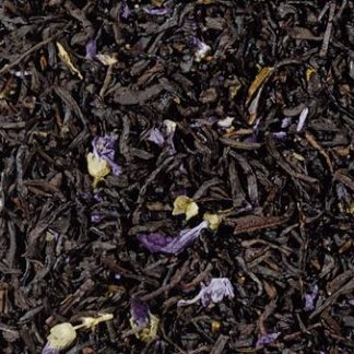 Te negre Earl Grey Blue Flowers